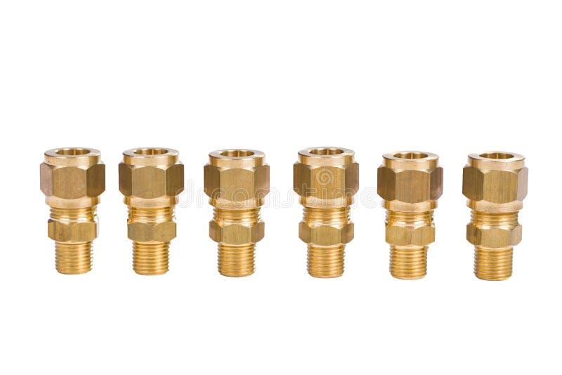 水管黄铜联接的配件 免版税库存照片