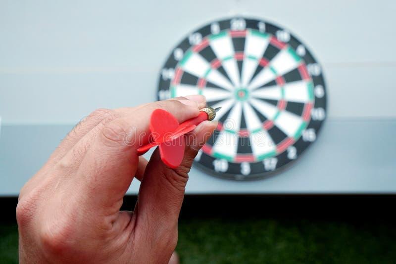 箭和掷镖的圆靶箭头比赛 库存图片