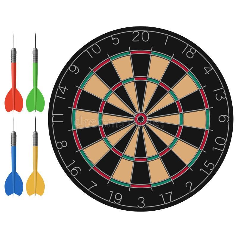 箭和掷镖的圆靶 库存例证