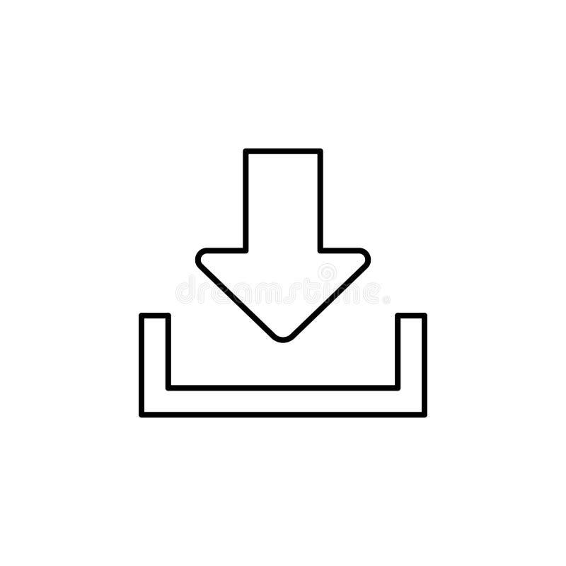 箭头下载标志象 简单的象,网络设计,流动app,信息图表的元素网站的 网站的d稀薄的线象 向量例证