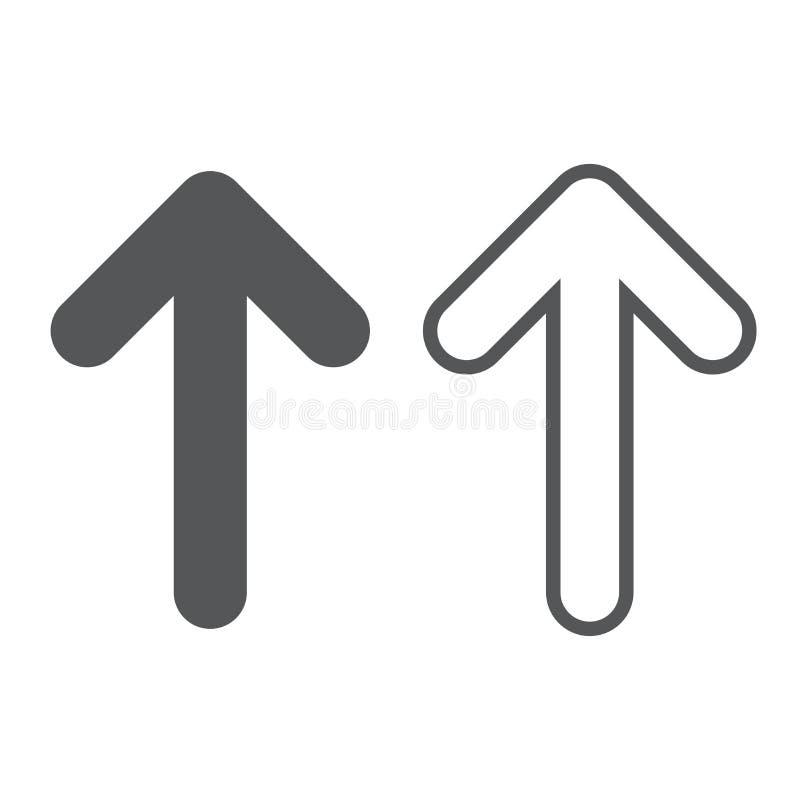 箭头与典雅的自由样式的传染媒介汇集和在白色背景和箭头象的黑颜色 向量例证