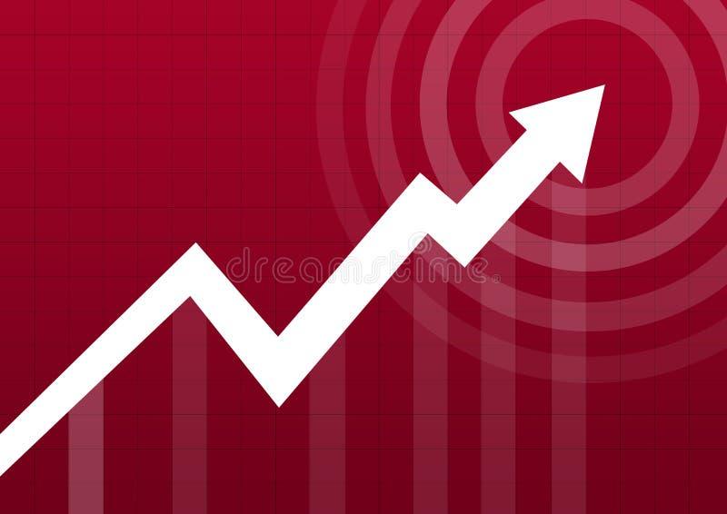 箭头企业图表点 向量例证