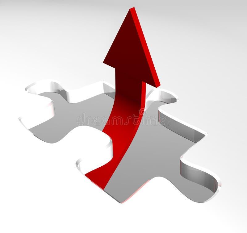 箭头企业增长红色陈列 皇族释放例证