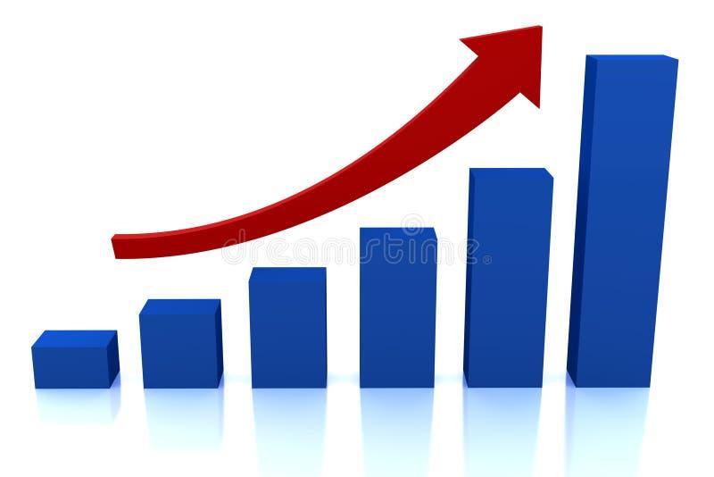箭头企业绘制增长红色 向量例证