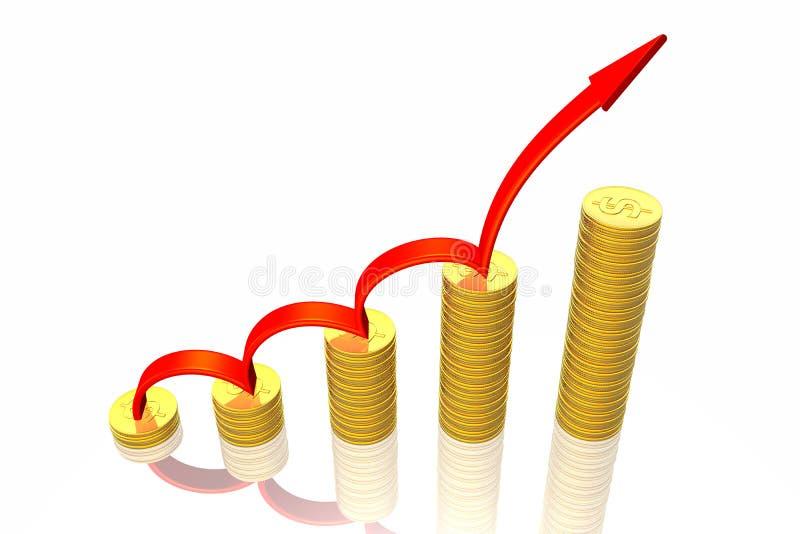 箭头企业绘制成功 库存例证