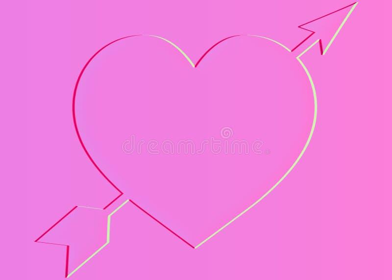 箭头刺穿的心脏标志,例证 皇族释放例证