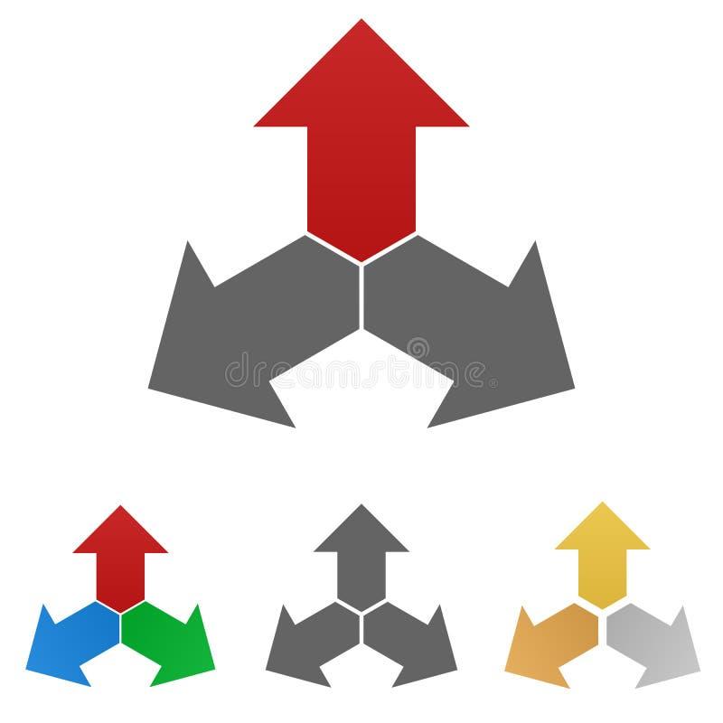 箭头商标传染媒介设计集合 向量例证