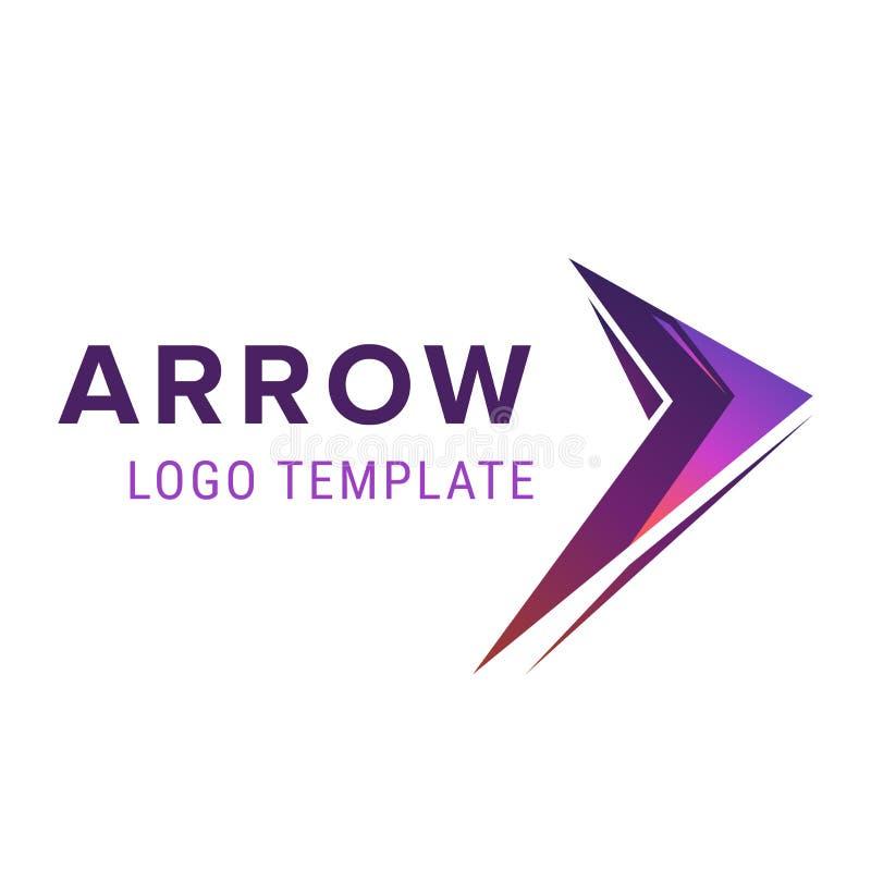 箭头商标模板 与箭头的抽象企业商标象设计模板 库存例证