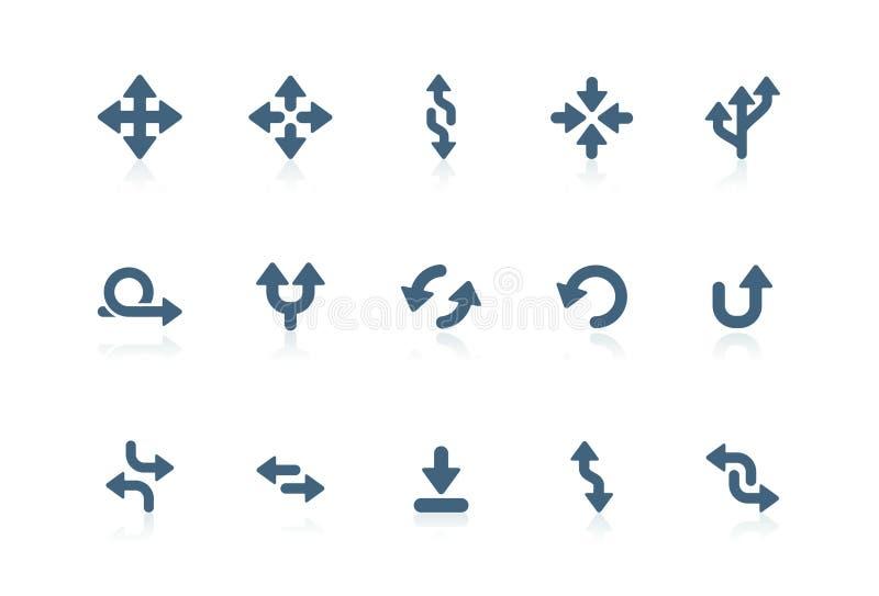 箭头图标短笛系列 皇族释放例证