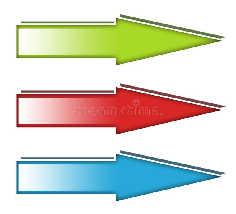 箭头图标 向量例证