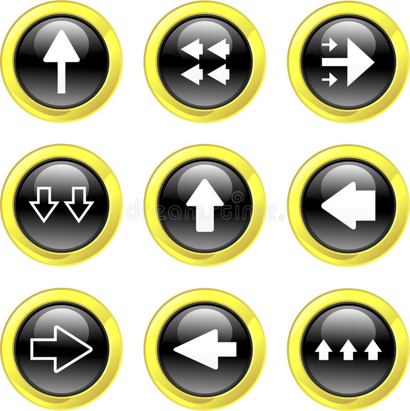 箭头图标 库存例证