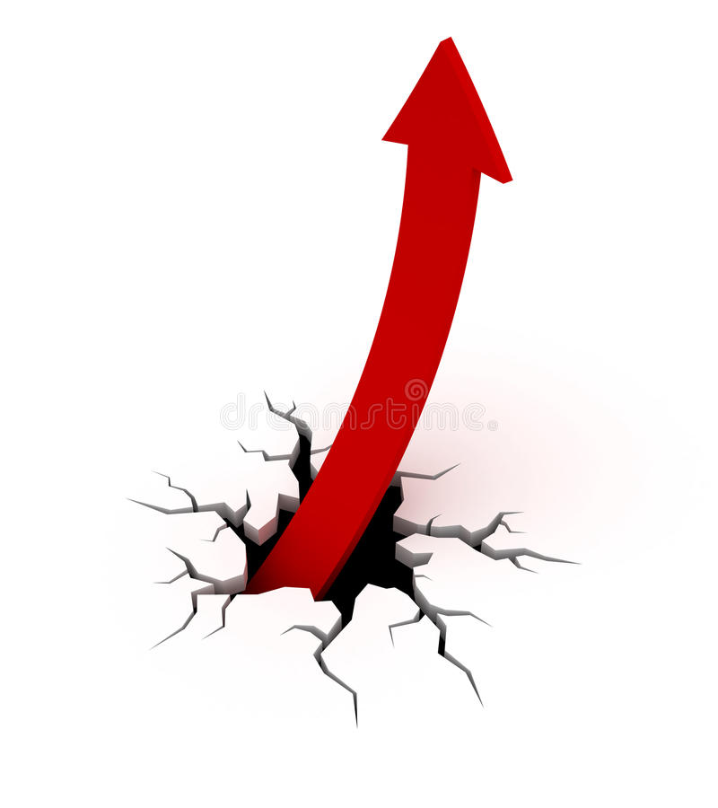 箭头图表增长 向量例证