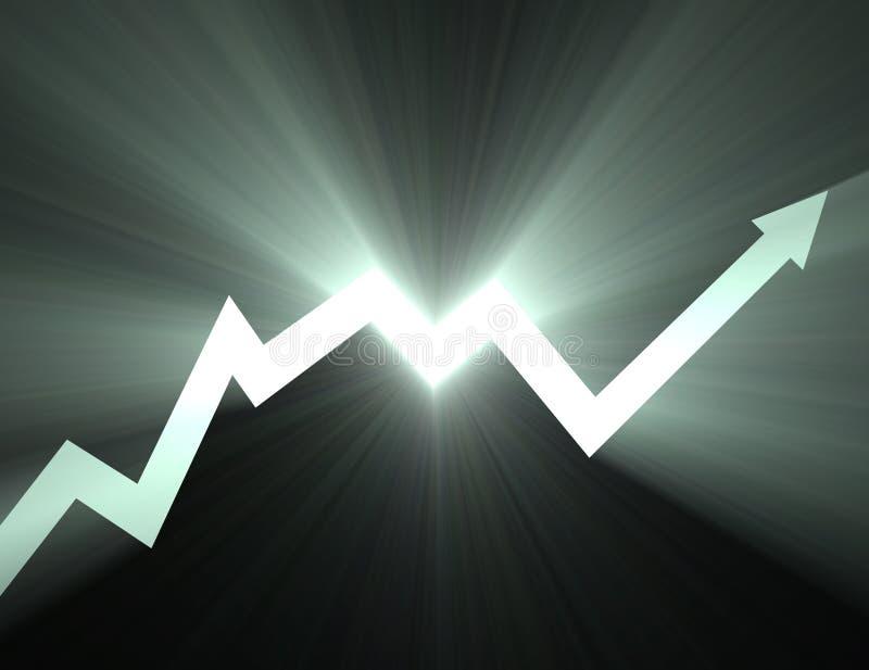 箭头图表火光灯光管制线股票 库存例证