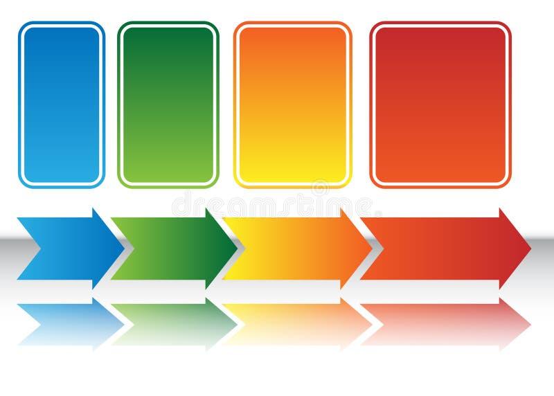 箭头图表热映射 向量例证