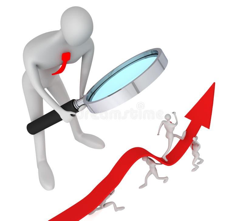 箭头如何启用增长注意的人人员 库存例证