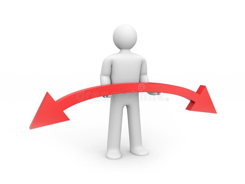 箭头平衡概念暂挂人员 向量例证