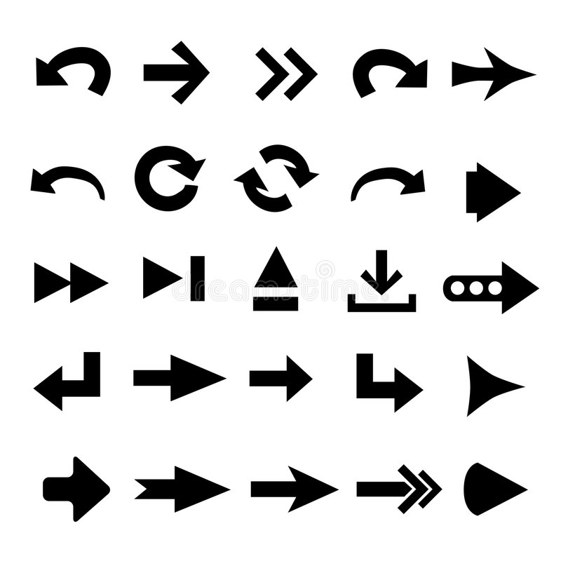 箭头形状 库存例证