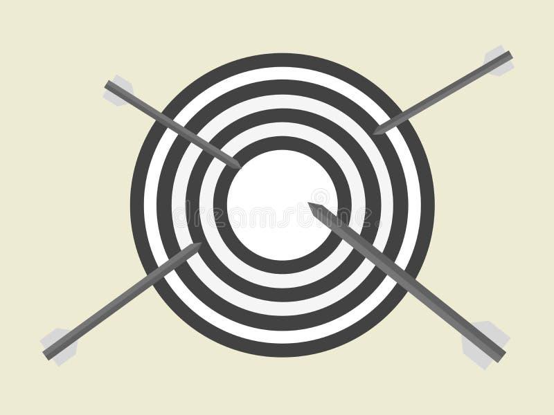 箭头打算瞄准到达目的地的工作的企业概念 目标设置战斗终点线 皇族释放例证