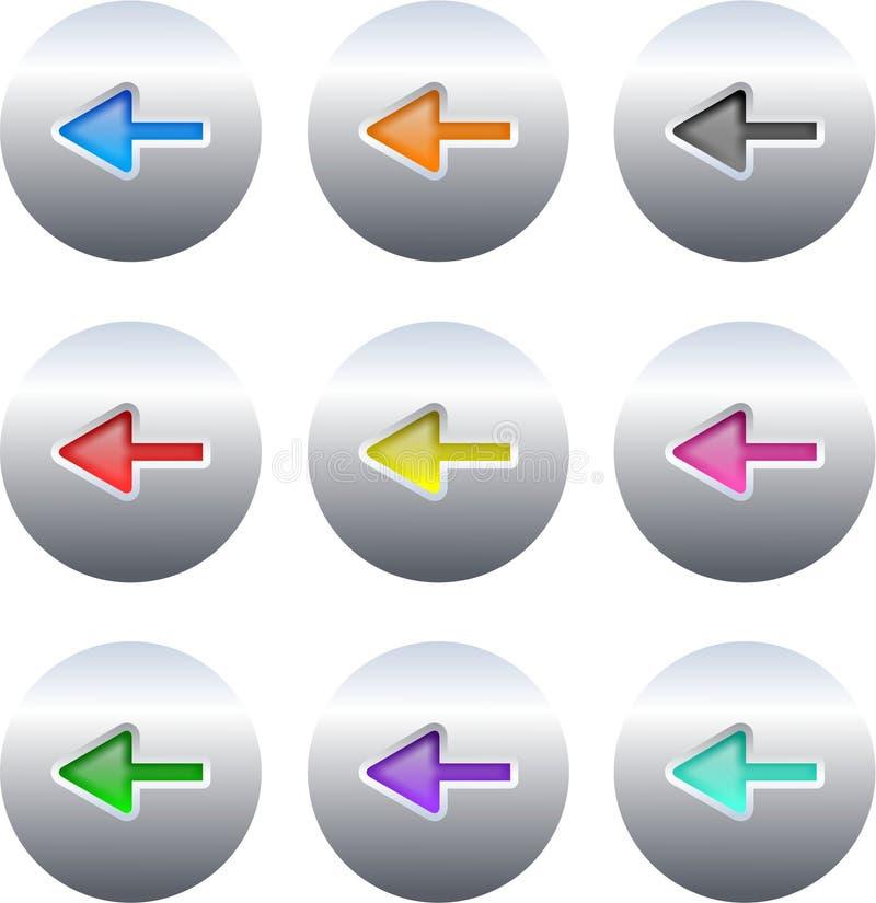 箭头按钮 库存例证
