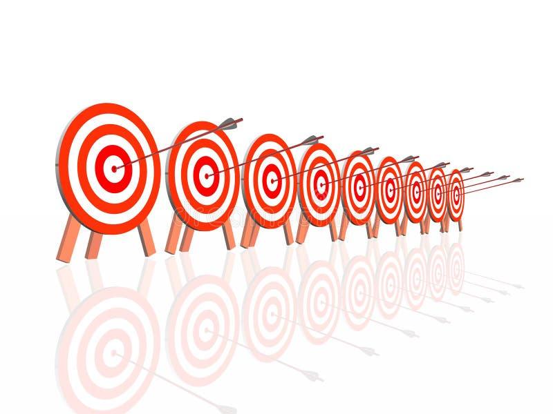 箭头掷镖的圆靶 向量例证