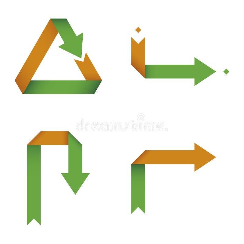 箭头收集可折叠 皇族释放例证
