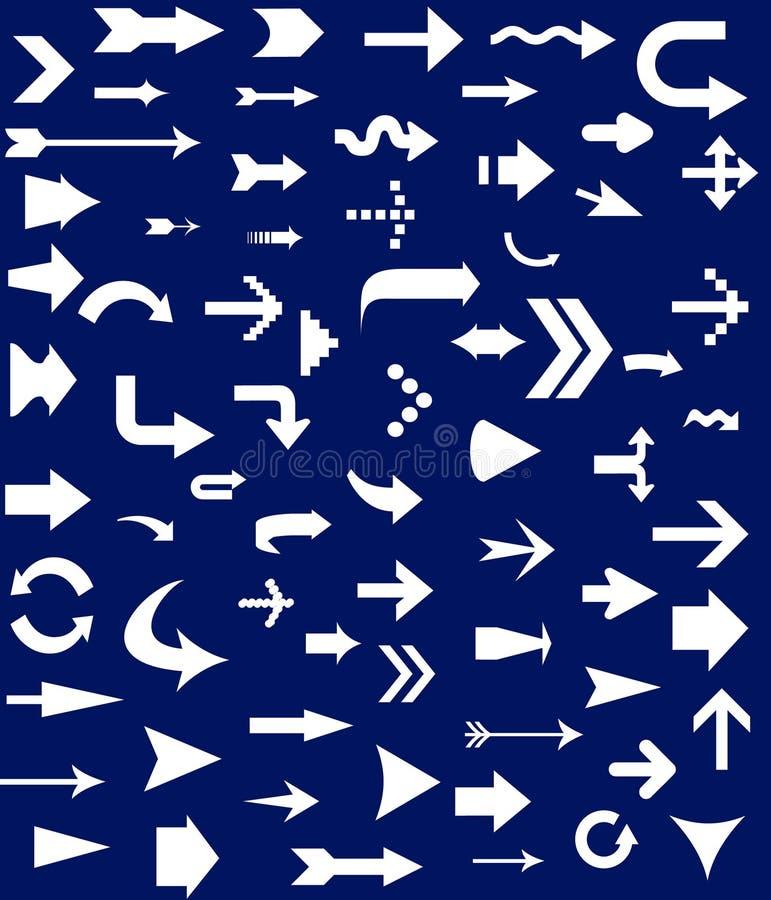 箭头收集 向量例证