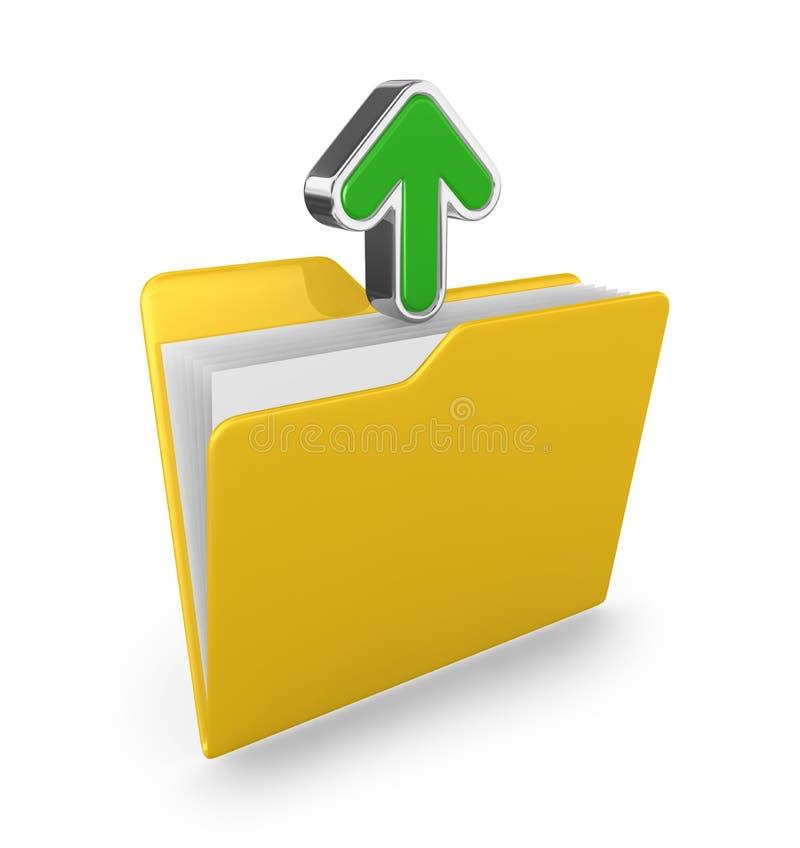 箭头文件夹绿色黄色 库存图片