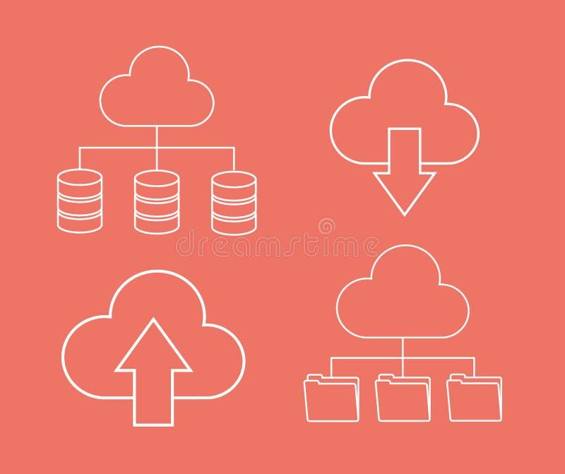 箭头文件档案数据中心网络主持 背景装饰图象风格化漩涡向量挥动 库存例证