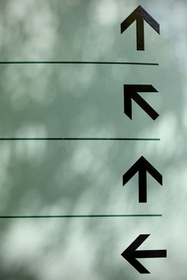 箭头方向 免版税库存图片