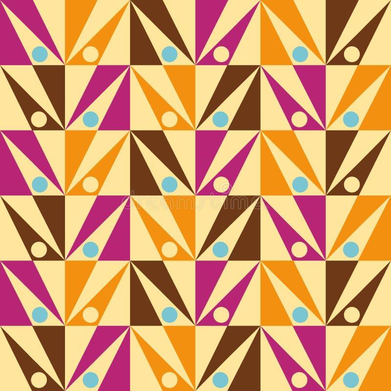 箭头无缝的三角摘要模式向量 皇族释放例证