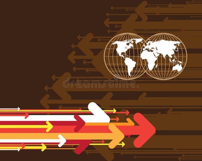 箭头映射世界 皇族释放例证