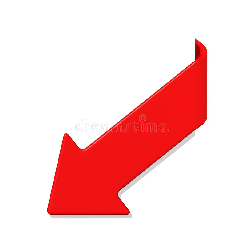 箭头查出的红色白色 皇族释放例证