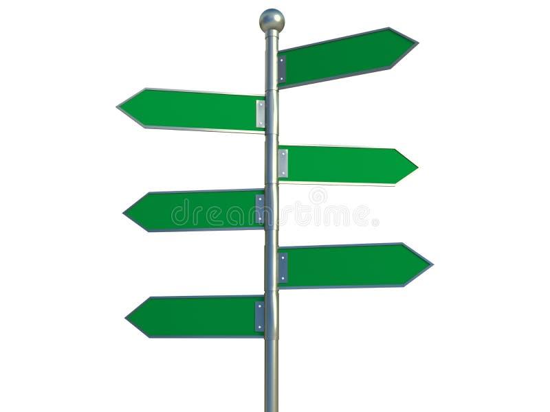 箭头标志 向量例证