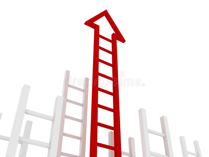 箭头梯子红色成功 皇族释放例证
