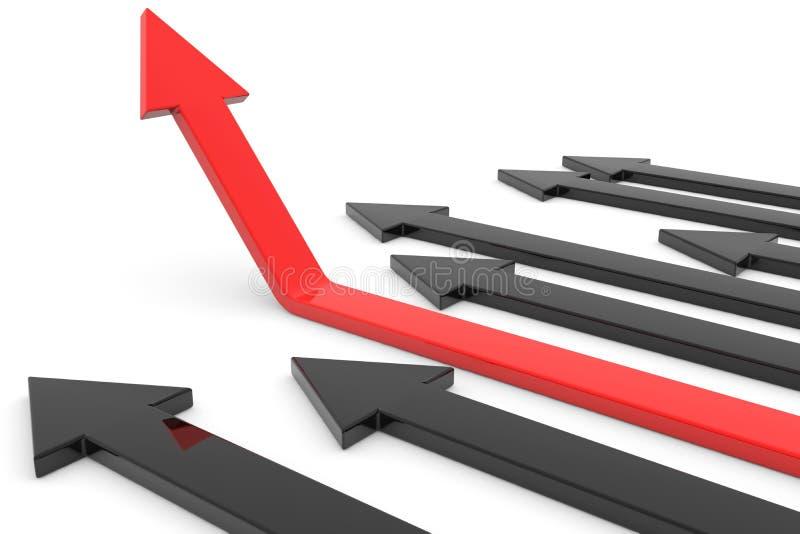 箭头概念增长红色成功 皇族释放例证