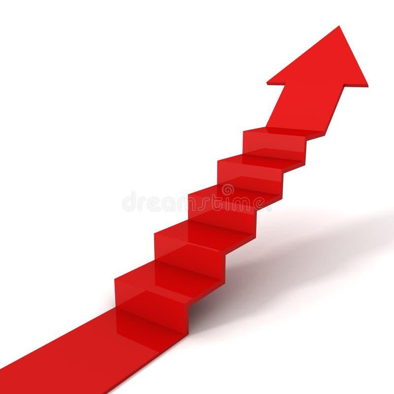 箭头概念对方式白色的梯子成功 库存例证
