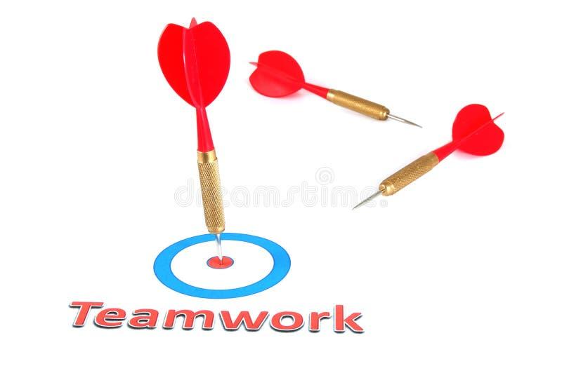 箭头概念箭配合 库存图片