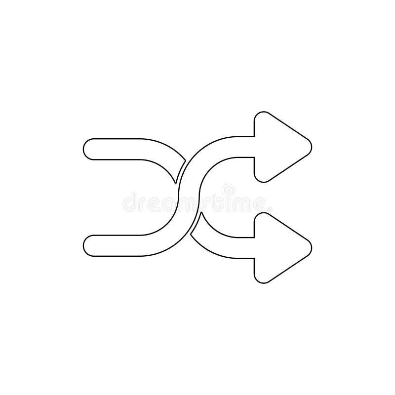 箭头横渡拖曳概述象 E 向量例证