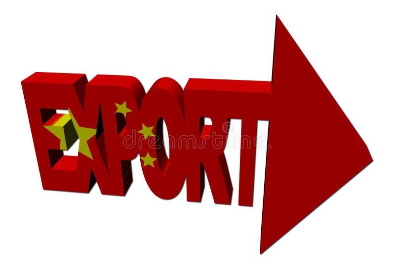 箭头汉语导出标志 库存例证