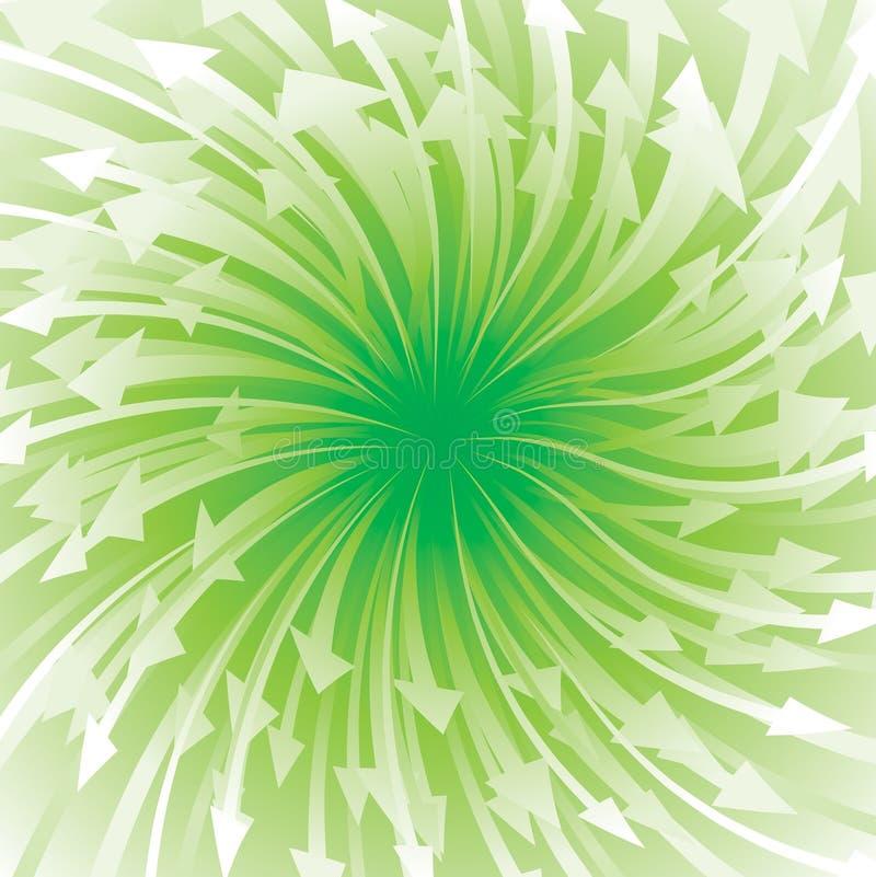 箭头流的绿色 向量例证