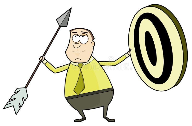 箭头生意人目标 库存例证