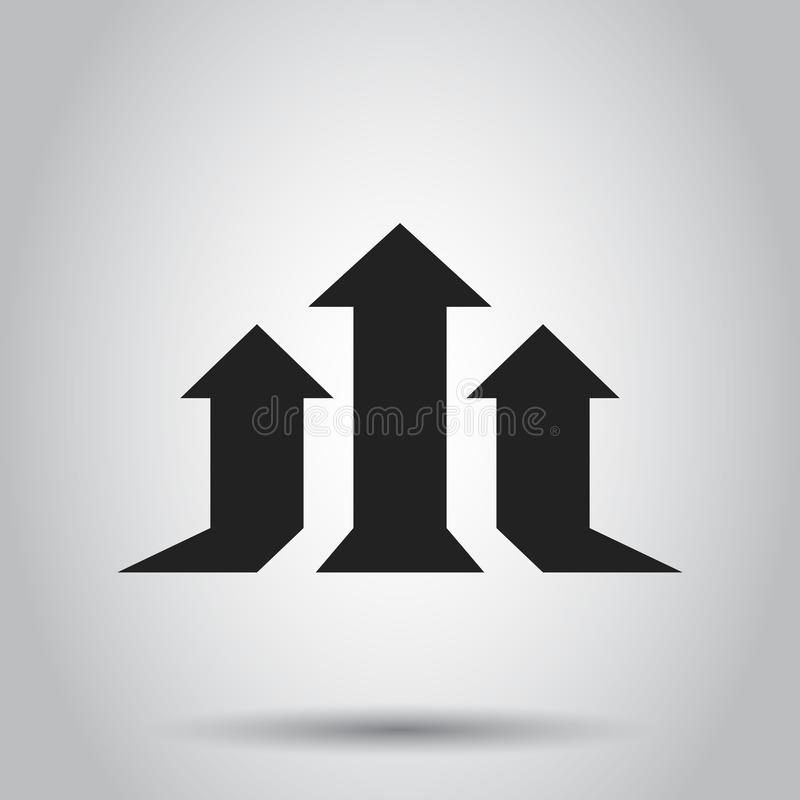 箭头生长图表传染媒介象 进展箭头生长标志illust 向量例证