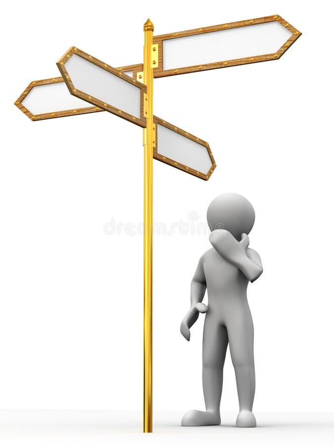 箭头空白方向人 向量例证