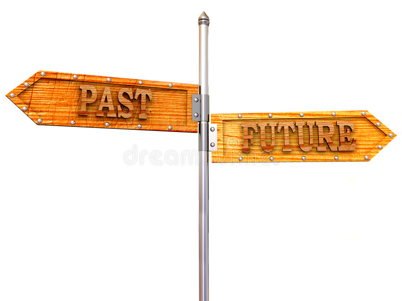 箭头空白方向将来的过去 向量例证