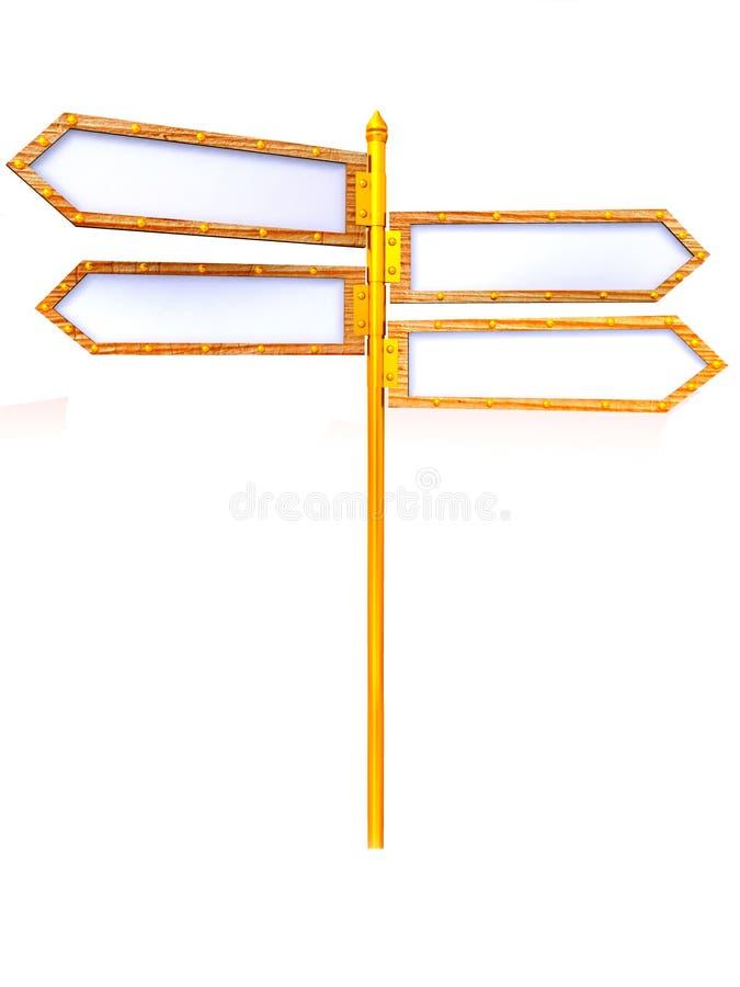 箭头空白方向 向量例证