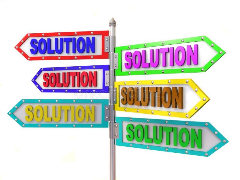 箭头空白方向solutiion 库存例证
