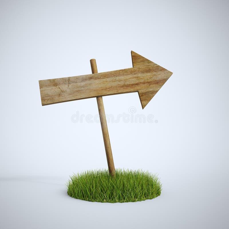 箭头空的gr做补丁程序符号木头 向量例证