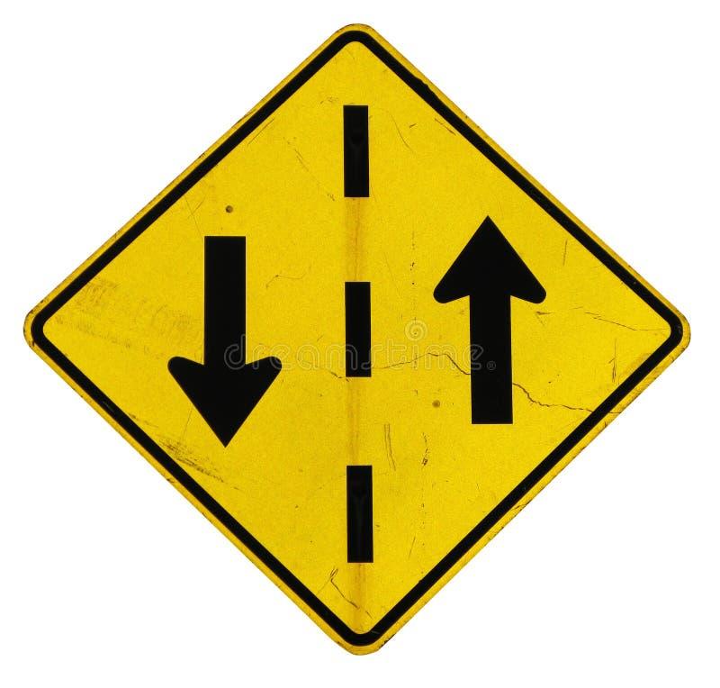 箭头符号黄色 免版税库存图片