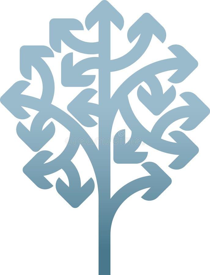 箭头结构树 向量例证