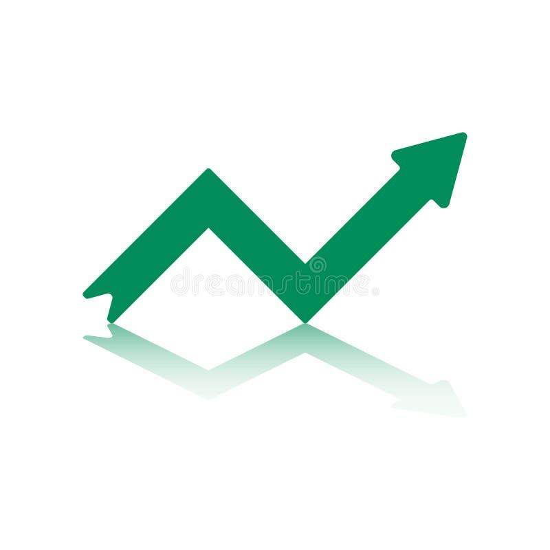 箭头绿色增长 库存例证